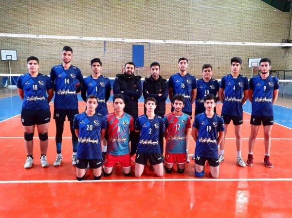 موفقیت سرو قامتان والیبال پیام در لیگ دسته ۲ تهران